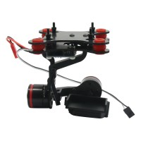 2-Axis CNC Aluminum Gopro Hero3 Brushless Camera Mount Gimbal PTZ for Gopro3 Aerial Photography Performance Better than Tarot