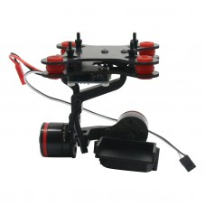 2-Axis CNC Aluminum Gopro Hero3 Brushless Camera Mount Gimbal PTZ w/ 2 pcs Motors for Gopro3 Aerial Photography