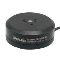 Brushless Gimbal Motor GBM5108 120T 24N22P Black for Cameras FPV Aerial Photography Ipower