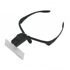 Creative Glasses Style Head Magnifier with 5 Different Multiple Lens / White LED Light (3 x LR1130)