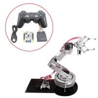 Aluminium 6 DOF Robotic Robot Arm Clamp Claw & Servos Swivel