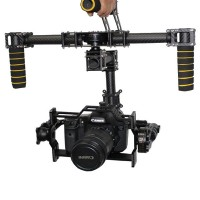 (Free DHL or EMS) DYS DSLR Brushless Handle Carbon Fiber Camera Gimbal + 3 Axis Controller + Motor for D800 D900 & Other DSLR camera