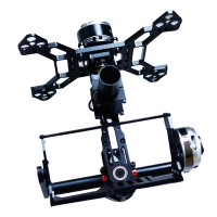 THOR Three Axis Aluminum Brushless Gimbal 3 axis PTZ for 5N 7N GH2 FPV Aerial Photography