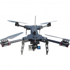 YT007 XC Model XC600 H4 Folding Quadcopter Frame Kit w/ Carbon Fiber Plate Landing Gear