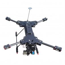 YT007 XC Model XC600 H4 Folding Quadcopter Frame Kit w/ Carbon Fiber Tube Landing Gear