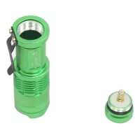 Ultrafire Cree Q5 LED Flashlight 7W High Power Mini Zoomable 3 Modes Waterproof Glare Torch 14500 /AA Bicycle Green