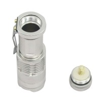 Ultrafire Cree Q5 LED Flashlight 7W High Power Mini Zoomable 3 Modes Waterproof Glare Torch 14500 /AA Bicycle Silvery