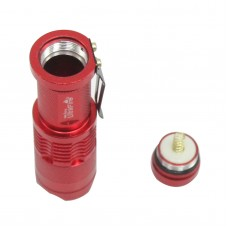 Ultrafire Cree Q5 LED Flashlight 7W High Power Mini Zoomable 3 Modes Waterproof Glare Torch 14500 /AA Bicycle Red