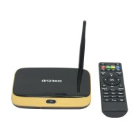 Gold Hi718A Quad Core A31S 2GB 16GB Android Smart TV Box Wireless WIFI Connect Bluetooth 4.0 HDMI