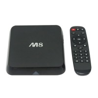Original M8 Amlogic S802 Android TV Box Quad Core 2G/8G Mali450 XBMC GPU 4K HDMI Bluetooth 2.4G/5G Dual WiFi Mini PC