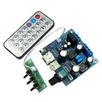 TPA3123 Digital Amplifier Board WAV MP3 Decode Single Power DC AC 12V-20V w/ Remote Control