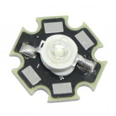 3W Blue LED Chip Emitter Diodes 450NM - 455NM With Star Heatsink For LED DIY Aquarium Light Kit / LED Light