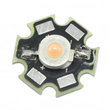 3W High Power Pink LED Light Emitter 700mA with 20mm Star Heatsink