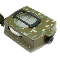 American Multifunctional K4580 Camouflage Metal Noctilucent Compass for Outdoor Activities