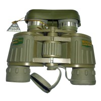 8x42 Green Binocular Green Film Shimmer Night Vision Large Eyepiece Telescope for Camping Hiking Outdoor Activities