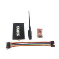 433M FPV16CH Remote Control Transmitter Extend Range Level 10 Power Adjustable Black & Receiver & Antenna