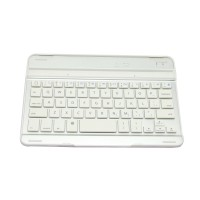 Magnet Aluminum Keyboard Case Mini Ultra Slim Aluminium Bluetooth Keyboard Hard Cover Case for ipad MINI White Silver
