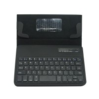 "S600 Universal Wireless Bluetooth Stand Shelf Plug-in Keyboard Magnetic Leather Smart Cover Case for Tablets 7"" 8"" inch TX5A03 Black"