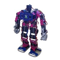 Biped Robot Humanoid Walking Robot (19 Degree of Freedom) Finger Can Move Silvery w/ 20PCS Servo & Diode - Silver