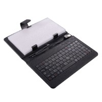 7inch 8inch 9inch 9.7inch Ipad Keyboard Leather Cover for All Pads Black
