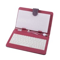 7inch 8inch 9inch 9.7inch Ipad Keyboard Leather Cover for All Pads Purple