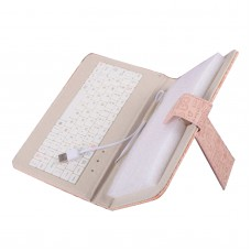 7inch 8inch 9inch 9.7inch Ipad Keyboard Leather Cover for All Pads Light Pink