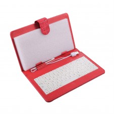 7inch 8inch 9inch 9.7inch Ipad Keyboard Leather Cover for All Pads Bright Red