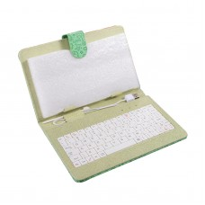 7inch 8inch 9inch 9.7inch Ipad Keyboard Leather Cover for All Pads Green