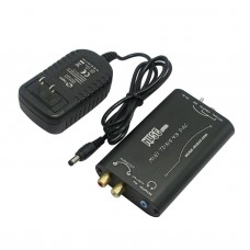 MUSE HI-FI DAC TDA1543 DIR9001 Decoder Digital Coaxial Optical Decoder w/ Power Supply -Black