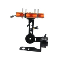3 Axis Brushless Gimbal FPV Camera Gimbal Frame Kit w/ Motors for Mini DSLR NEX5/6/7 Black
