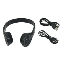 Bluetooth Stereo Headset BH-506 Wireless Bluetooth Headphone for Android Smart Phones Tablet PC Black