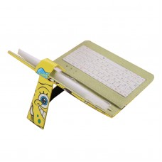 "Ipad PC Keyboard Leather Case for All Pad Tablet PC w/ Adjustable Buckle 7"" 8"" 9"" 9.7"" 10"" inch SpongeBob Squarepants"
