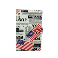 "Ipad PC Keyboard Leather Case for All Pad Tablet PC w/ Adjustable Buckle & Handwriting Pen 7"" 8"" 9"" 9.7"" 10"" inch American Flag White"
