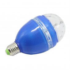 Mini Blue 3W E27 85-260V Colorful LED RGB Rotating Stage Lights Lamp KTV DJ Disco Stage Effect Lighting Bulb
