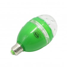 Mini Green 3W E27 85-260V Colorful LED RGB Rotating Stage Lights Lamp KTV DJ Disco Stage Effect Lighting Bulb