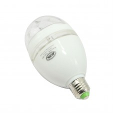 Mini White 3W E27 85-260V Colorful LED RGB Rotating Stage Lights Lamp KTV DJ Disco Stage Effect Lighting Bulb