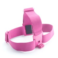 GHS-1 Colorful Head Strap Adjustable for Gopro1 Gopro2 Gopro3 Gopro3+ Rose Red
