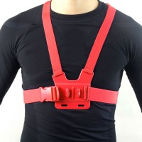 GCS-1 Colorful Adjustable Chest Strap Shooting Action Sports for Gopro1 Gopro2 Gopro3 Gopro3+ Red