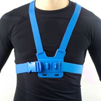 GCS-1 Colorful Adjustable Chest Strap Shooting Action Sports for Gopro1 Gopro2 Gopro3 Gopro3+ Blue