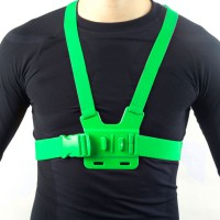 GCS-1 Colorful Adjustable Chest Strap Shooting Action Sports for Gopro1 Gopro2 Gopro3 Gopro3+ Green