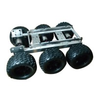Aluminum Alloy Tank Chassis Robot Car Obstacle Crossing Car Large Foot Terrain Vehicle