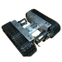 Alumnium Alloy Apron Wheel Tank Chassis Smart Car Robot Tank Avoiding Obstacles w/ 2 Motors