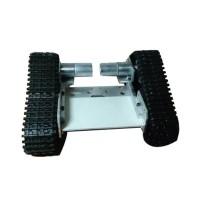 Alumnium Alloy Apron Wheel Tank Chassis Large Power Smart Car Robot Tank w/ 2 Motors