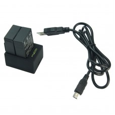 Gopro Two Battery Charger NPC-1 for Gopro Hero 3 Battery w/ USB Cable