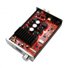 FX Audio D802 HIFI Digital Amplifier Remote Control USB Optical Fiber Coaxial Input 192KHZ 80W*2 Black