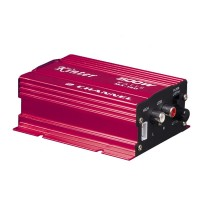 Kinter MA-150 AMP 2CH 500W USB Hi-Fi Digital Stereo Amplifier Car/ Motorcycle / Boat /MP3/MP4/CD MA-150 Red