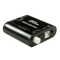 Muse Z2 24bit 192KHZ Audio Decoder DAC Fiber Coaxial Microphone Input Computer USB Sound Card USB to Coaxial Output Black