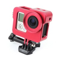 Aluminum Alloy Protective Shell Case+ Lens Cap for Gopro Hero 3/ 3+