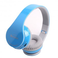 New Wireless Stereo Bluetooth 4.0 Headphones for all Cell Phone Laptop PC Tablet Blue