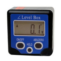 Inclinometer Angle Gauge Meter Digital Level Box Level Angle Gauge Protractor - Blue